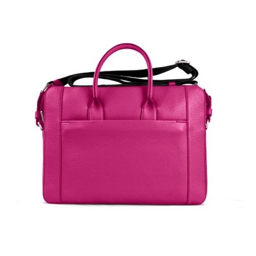 Portfolio bag 15-inch - Fuchsia - Granulated Leather