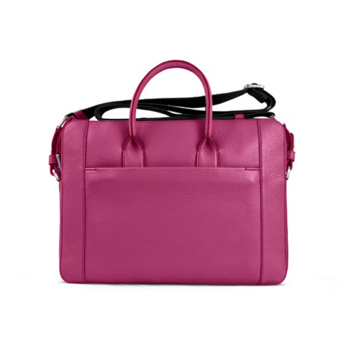 Portfolio bag 15-inch - Fuchsia  - Granulated Leather