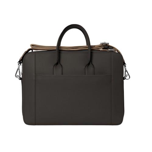 Portfolio bag 15-inch - Dark Brown - Granulated Leather