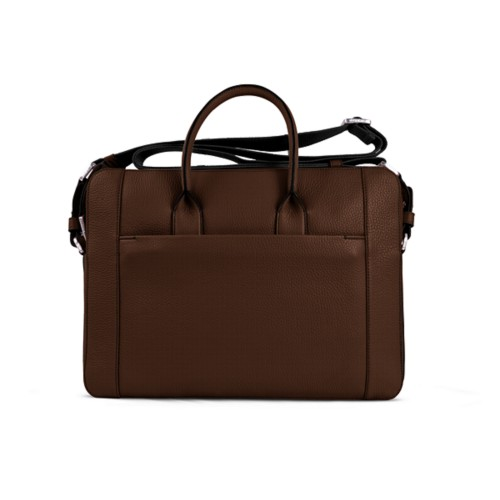 Portfolio bag 15-inch - Dark Brown - Granulated Leather
