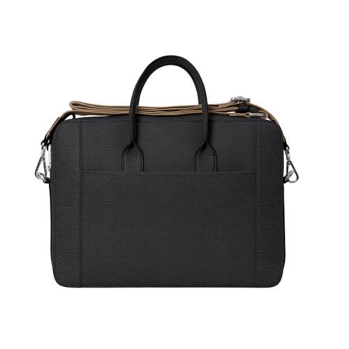 Portfolio bag 15-inch - Black - Granulated Leather