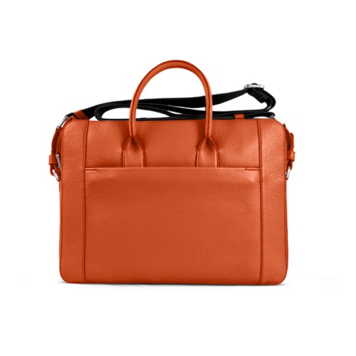 Portfolio bag 15-inch - Orange - Granulated Leather