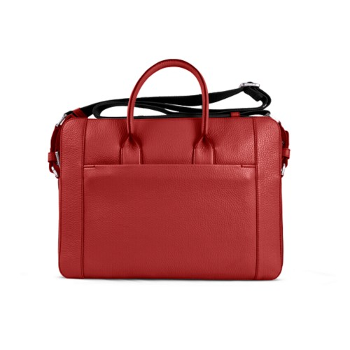 Portfolio bag 15-inch - Red - Granulated Leather