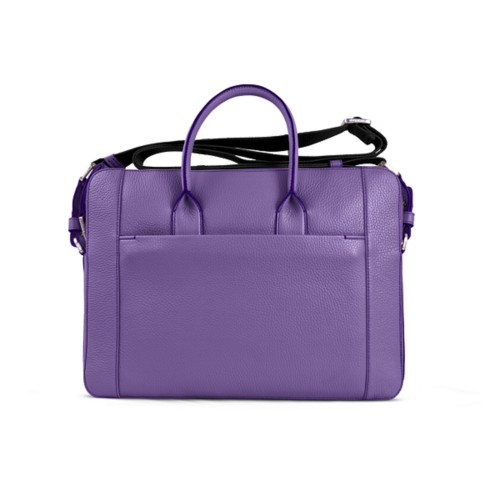 Portfolio bag 15-inch - Lavender - Granulated Leather