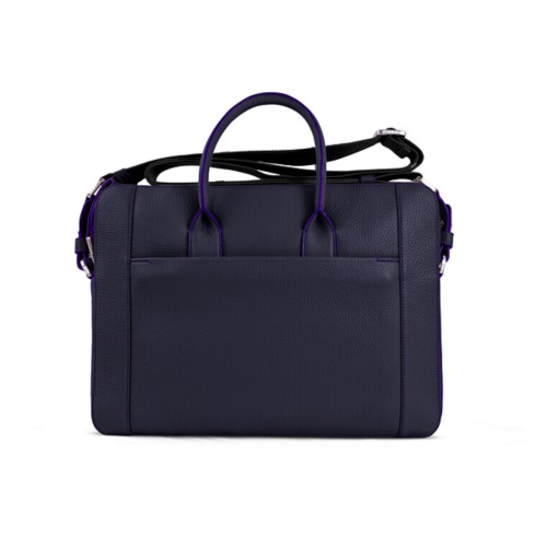Portfolio bag 15-inch - Purple - Granulated Leather