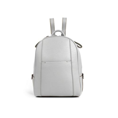 Mini backpack - White - Granulated Leather