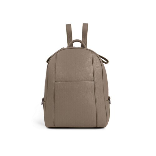 Mini backpack - Mink - Granulated Leather