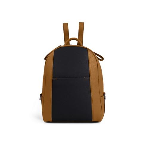 Mini backpack - Flake-Black - Granulated Leather