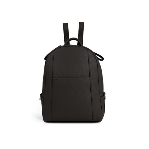 Mini backpack - Dark Brown - Granulated Leather