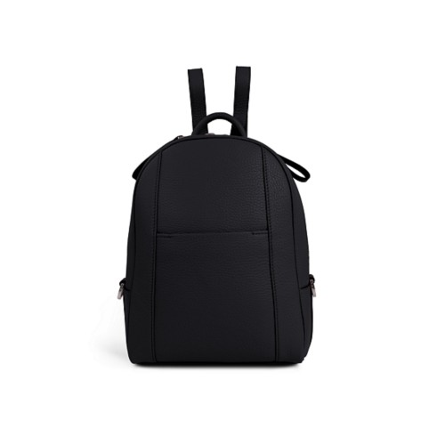 Mini backpack - Black - Granulated Leather