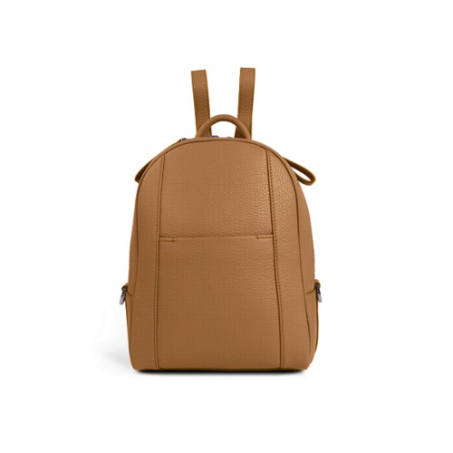 Mini backpack - Natural - Granulated Leather