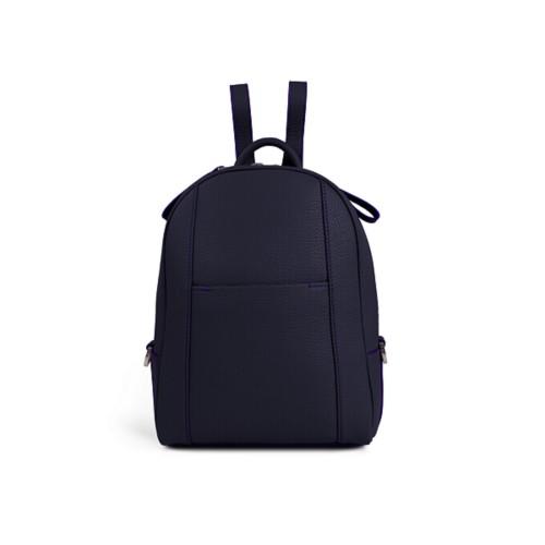 Mini backpack - Purple - Granulated Leather