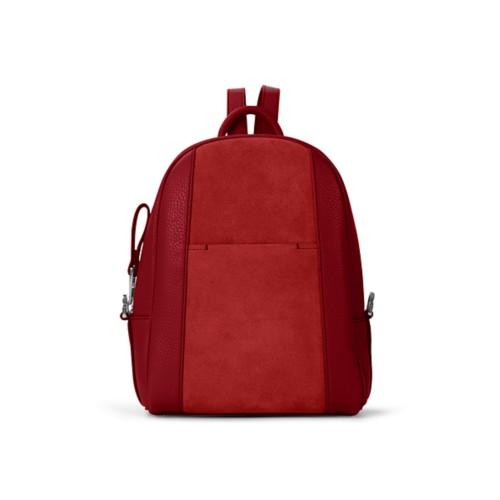 Mini backpack - Amaranto - Suede Calf