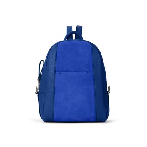 Mini backpack - Royal Blue - Suede Calf