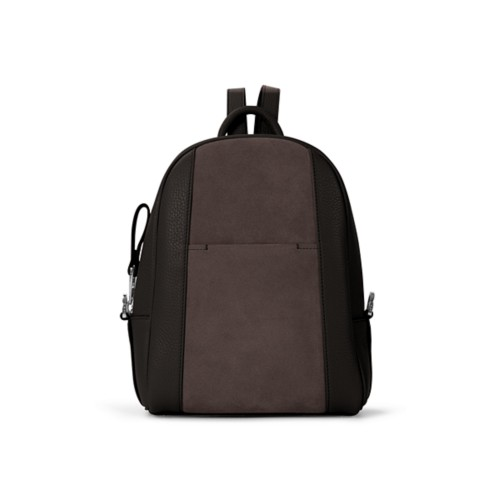 Mini backpack - Dark Brown - Suede Calf
