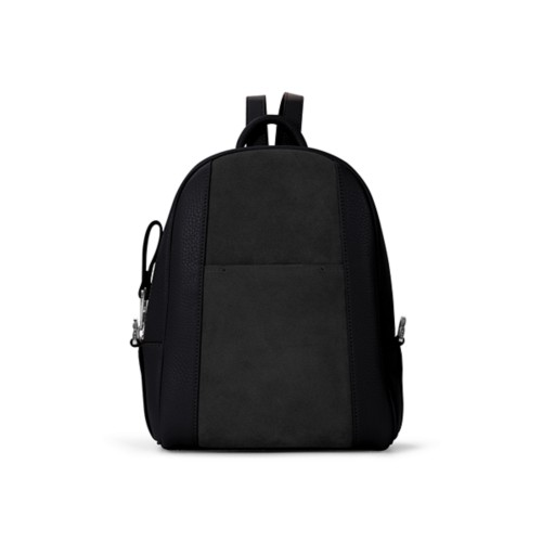 Mini backpack - Black - Suede Calf