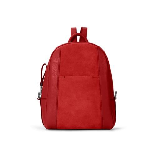 Mini backpack - Red - Suede Calf