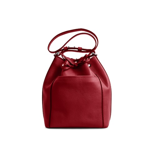 Bucket bag - Amaranto - Granulated Leather
