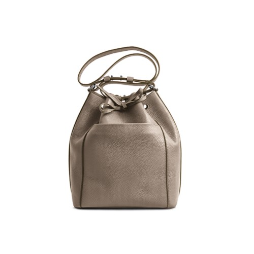 Bucket bag - Mink - Granulated Leather