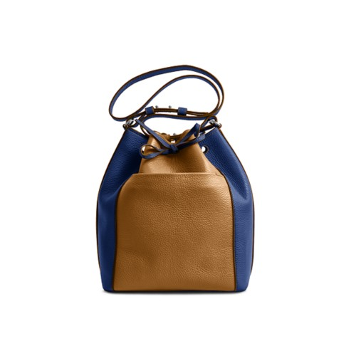 Bucket bag - Flake-Submarine - Granulated Leather