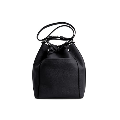 Bucket bag - Black - Granulated Leather
