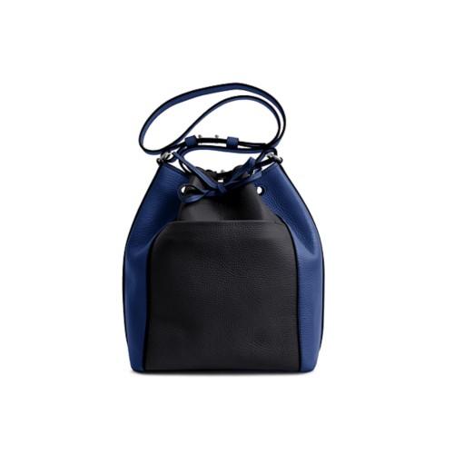 Bucket bag - Black-Submarine - Granulated Leather