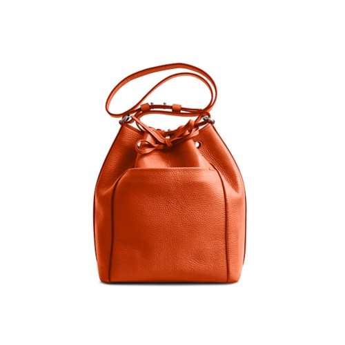Sac Seau - Orange - Cuir Grainé