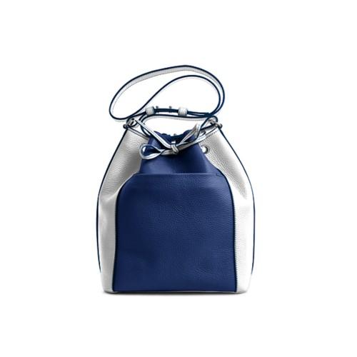 Bucket bag - Submarine-White - Granulated Leather