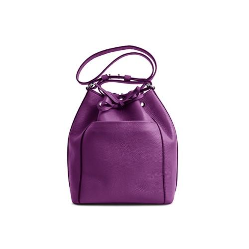 Bucket bag - Purple - Granulated Leather