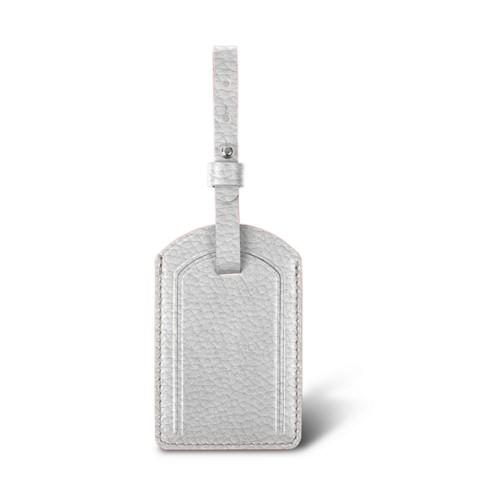 ラグジュアリーラゲージタグ - White - Granulated Leather