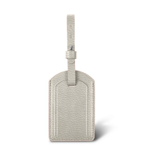 Luxury Luggage Tag - Off-White - Granulated Leather