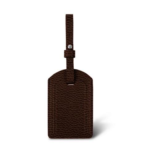 ラグジュアリーラゲージタグ - Dark Brown - Granulated Leather