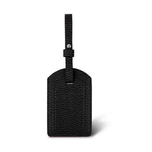 ラグジュアリーラゲージタグ - Black - Granulated Leather