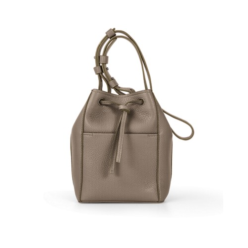 Mini bucket bag - Mink - Granulated Leather