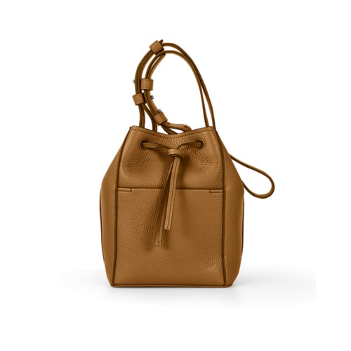 Mini bucket bag - Flake - Granulated Leather
