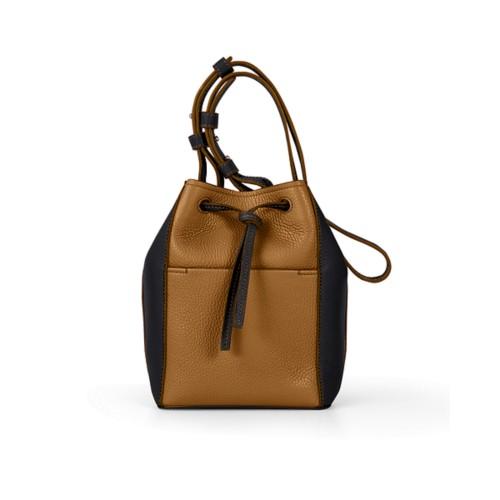 Mini bucket bag - Flake-Black - Granulated Leather