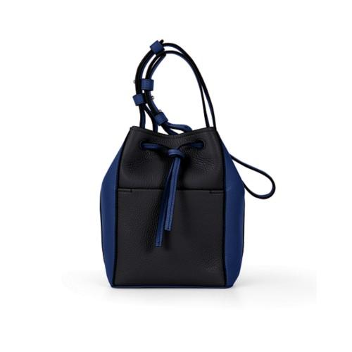 Mini bucket bag - Black-Submarine - Granulated Leather