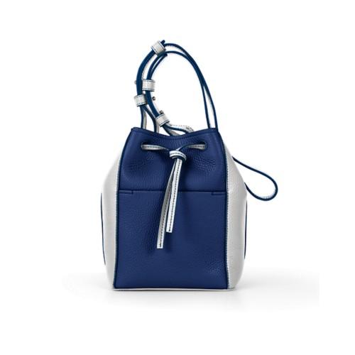 Mini bucket bag - Submarine-White - Granulated Leather