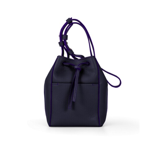 Mini bucket bag - Purple - Granulated Leather