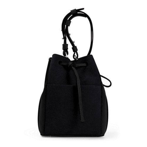 Mini bucket bag - Black - Suede Calf