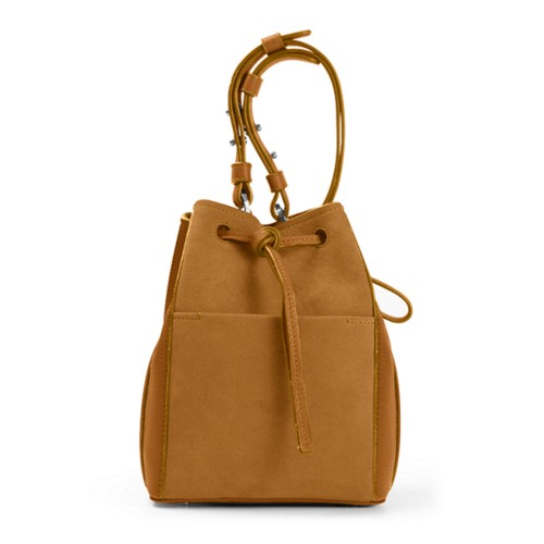 Mini bucket bag - Natural - Suede Calf
