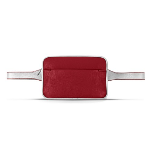L5 Fanny Pack - Amaranto-White - Granulated Leather