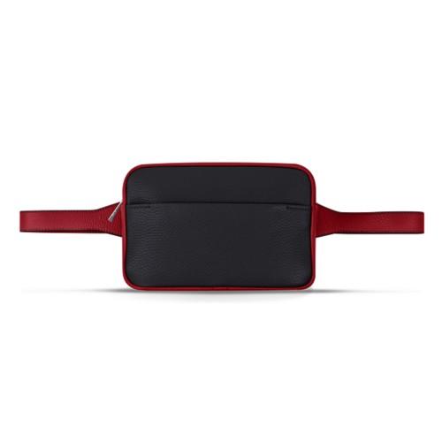 L5 Fanny Pack - Black-Amaranto - Granulated Leather