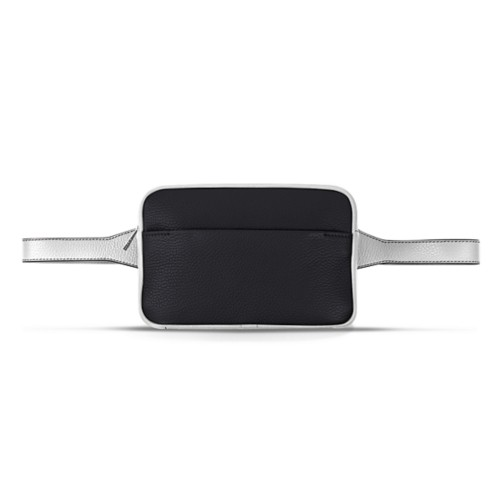 L5 Fanny Pack - Black-White - Granulated Leather