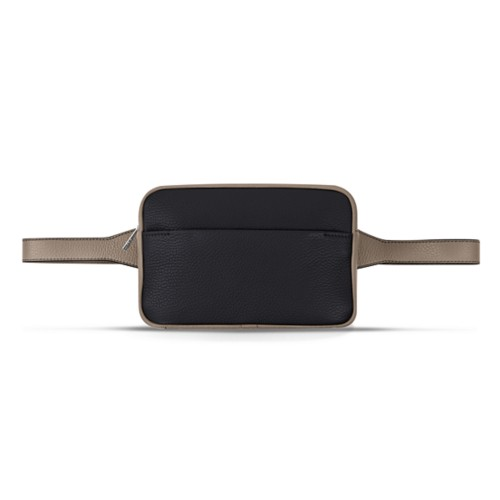 L5 Fanny Pack - Black-Mink - Granulated Leather