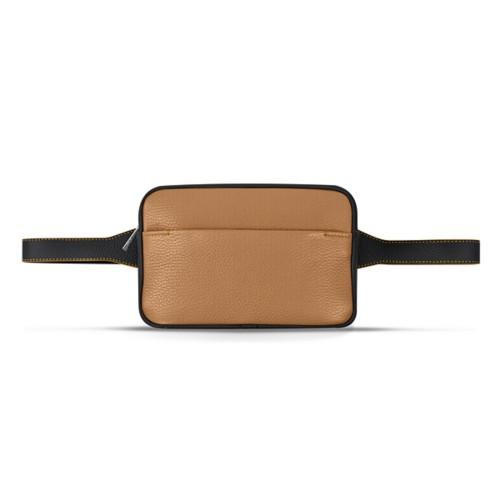 L5 Bum Bag - Natural-Black - Granulated Leather