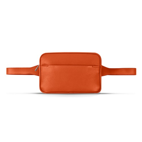 Sac Banane L5 - Orange - Cuir Grainé