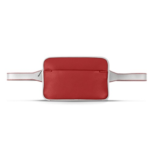 L5 Bum Bag - Red-White - Granulated Leather