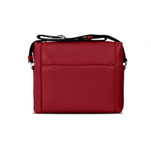 Mini messenger bag L5 - Amaranto - Granulated Leather
