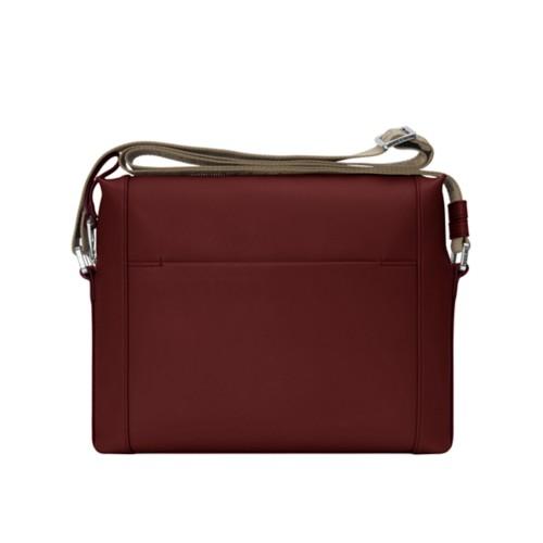 Mini messenger bag L5 - Burgundy - Granulated Leather